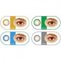 Bescon Цветные контактные линзы tutti one-day blue, green, gray, brown